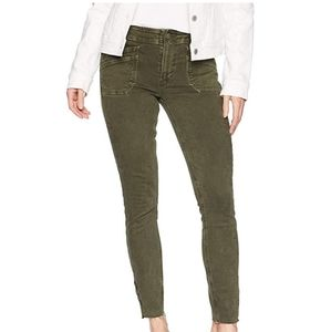 Paige high rise hoxton utilitarian ankle zip jeans